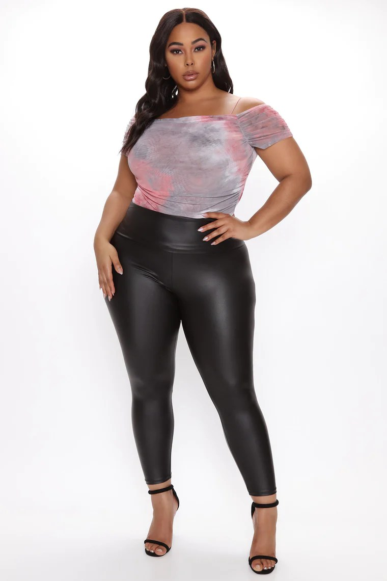 Smooth Like Leather Leggings - Black 10
