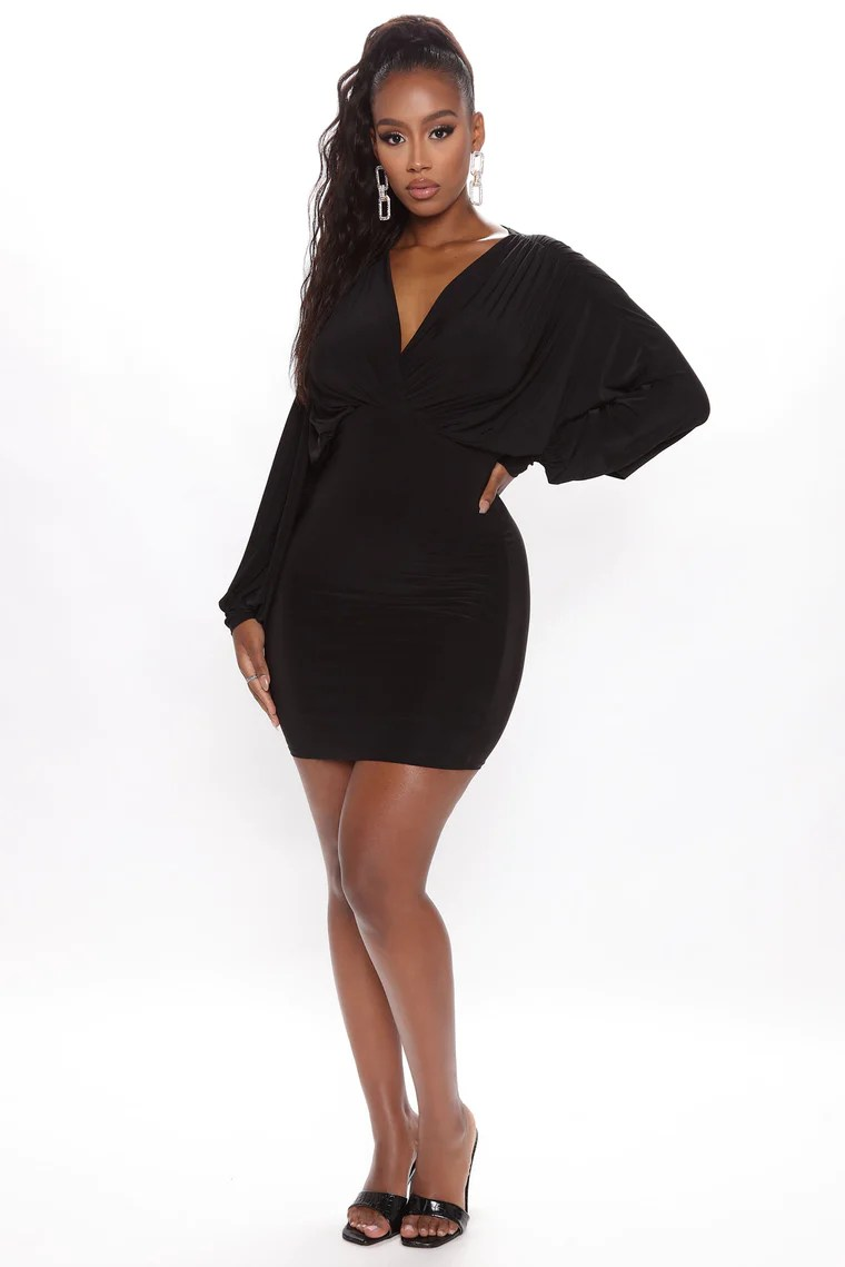 Set The Mood Mini Dress - Black 2