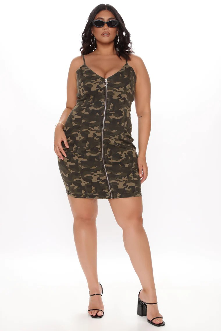 Come In Camo Mini Dress - Camouflage 2