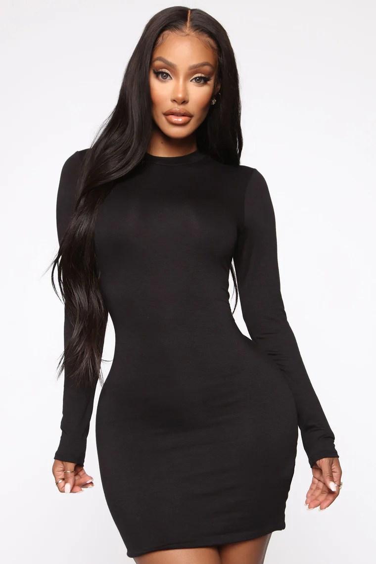 Strolling Around Town Mini Dress - Black 8