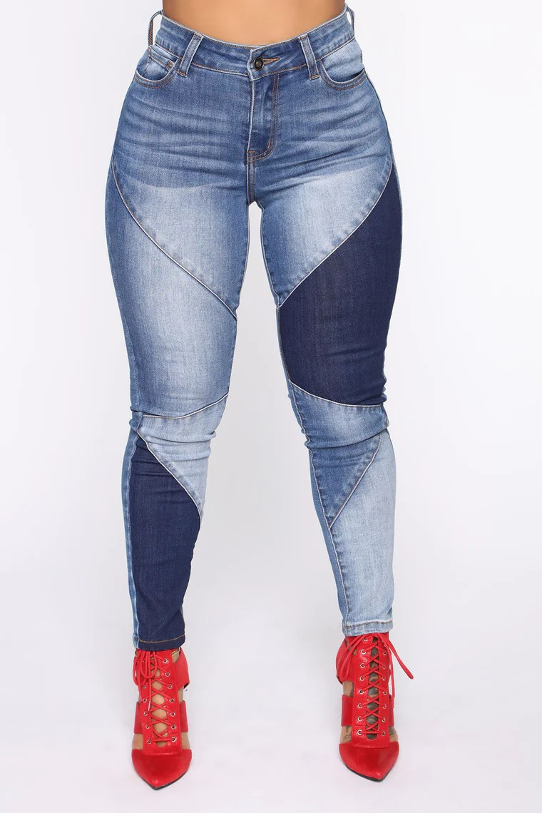 Stay In Line Mid Rise Skinny Jeans - Medium Wash 4