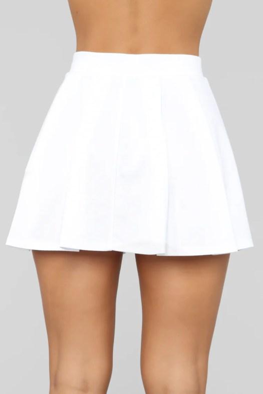 Let's Play Tennis Skirt - White, Skirts | Fashion Nova