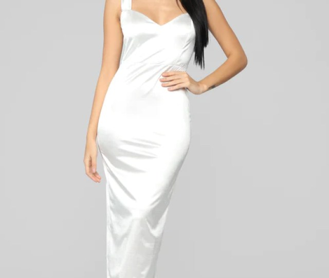 Close Up Ready Dress Off White