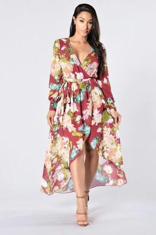 Parisian Romance Dress - Burgundy