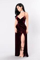 Wishful Thinking Dress Burgundy
