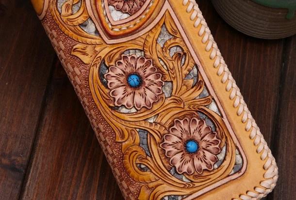Custom Tooled Leather Key Chains