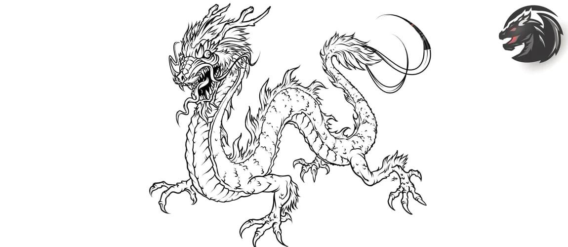 comment dessiner un dragon japonais
