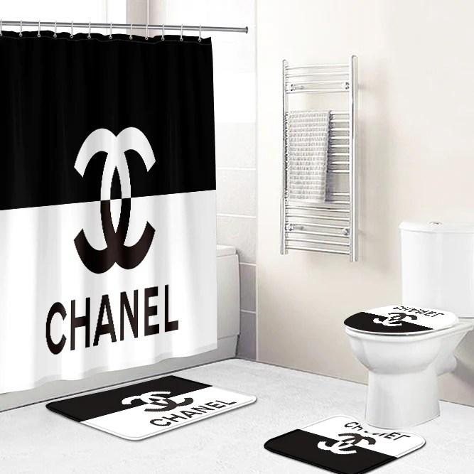 chanel shower curtain shop unique