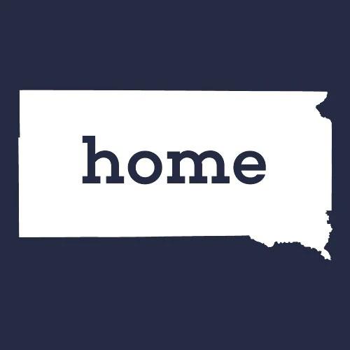 South Dakota Home T Shirt Custom Made Textual Tees