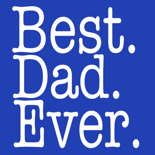 Best Dad Ever T Shirt Fathers Day Gift Textual Tees