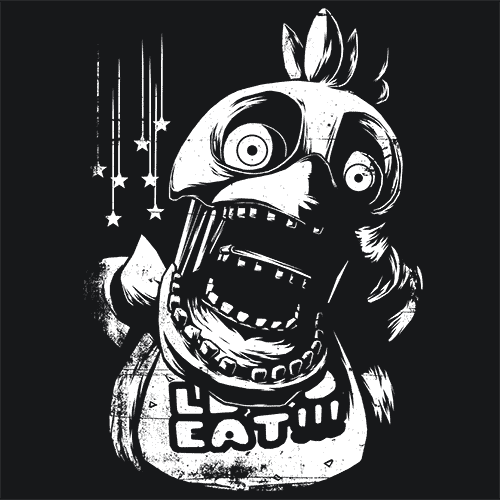 Chica FNAF T Shirt Video Game Related   Textual Tees Chica Five Nights At Freddy s 3 FNAF T Shirts   Textual Tees