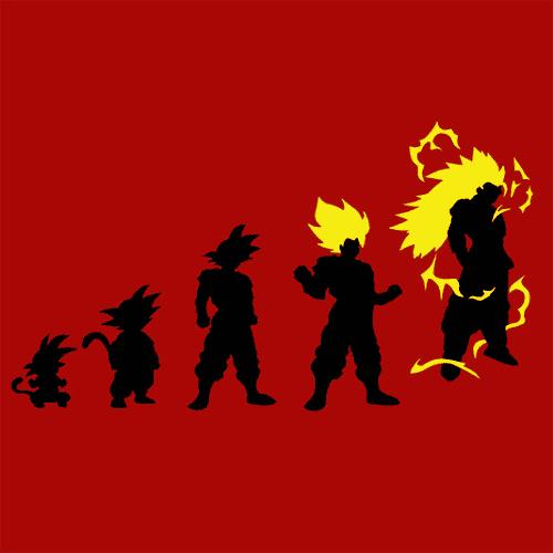 Goku Evolution T Shirt DBZ TV Movie Textual Tees