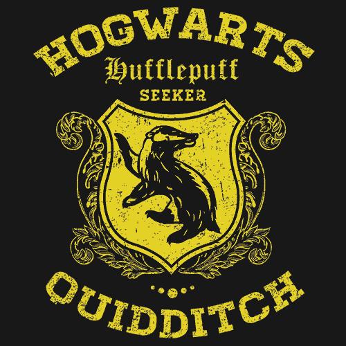 Quidditch Hufflepuff T Shirt Harry Potter Textual Tees