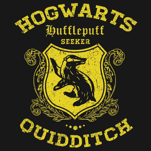 Quidditch Hufflepuff T Shirt Harry Potter Textual Tees