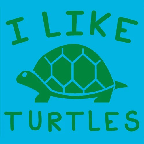 I Like Turtles T Shirt Funny YouTube Textual Tees