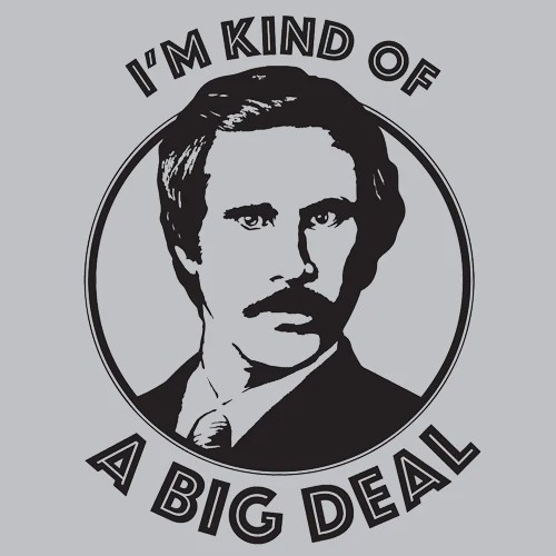 Im Kind Of A Big Deal T Shirt Movie Textual Tees