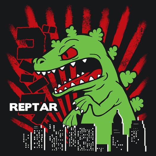 Reptar Rugrats T Shirt Funny Cartoon Textual Tees