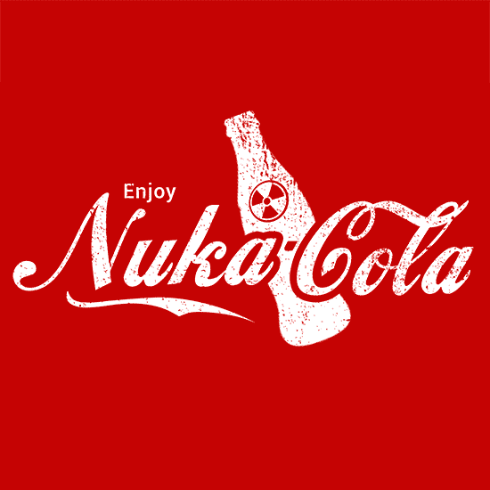 Enjoy Nuka Cola T Shirt Video Gaming Textual Tees
