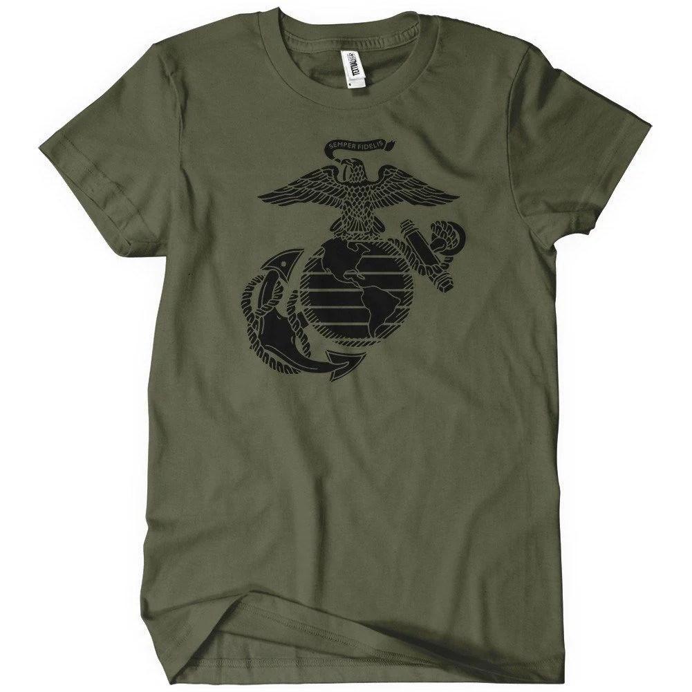 US Marine Corps T Shirt Militart Apparel Textual Tees