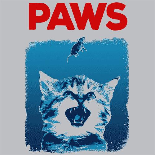 Paws T Shirt Funny Shark Week Apparel Textual Tees