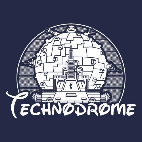 Technodrome TMNT T Shirt Old School Textual Tees