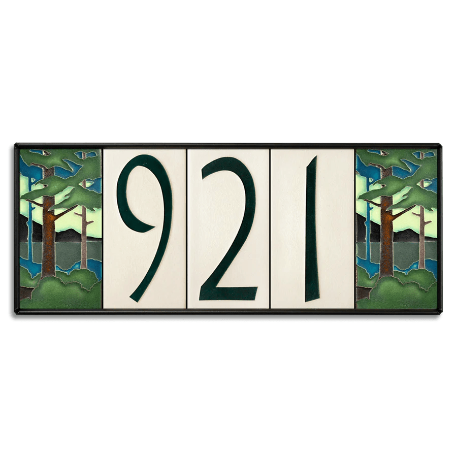4x8 house number frame holds five tiles