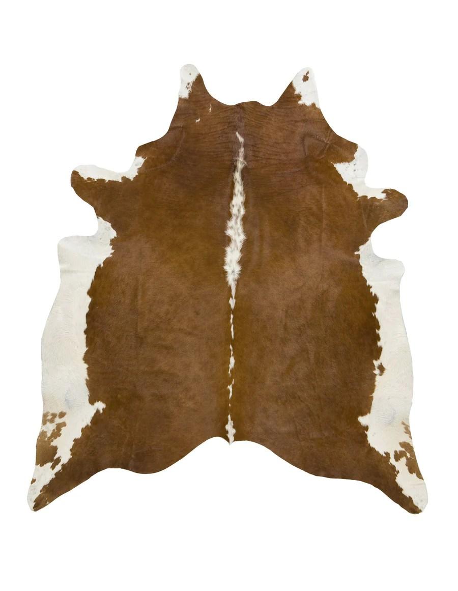 Hereford Brown Cowhide Rug Xl