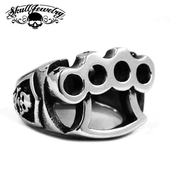Street Fighting Man Stainless Steel Knuckles Ring 456