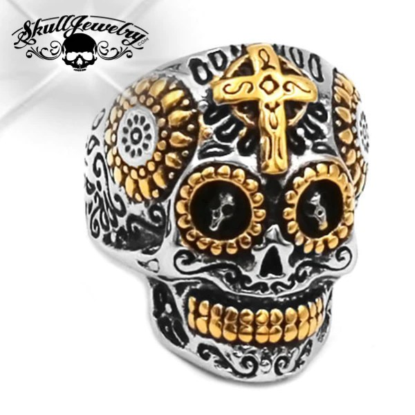 El Dios Sol Son God Skull Ring