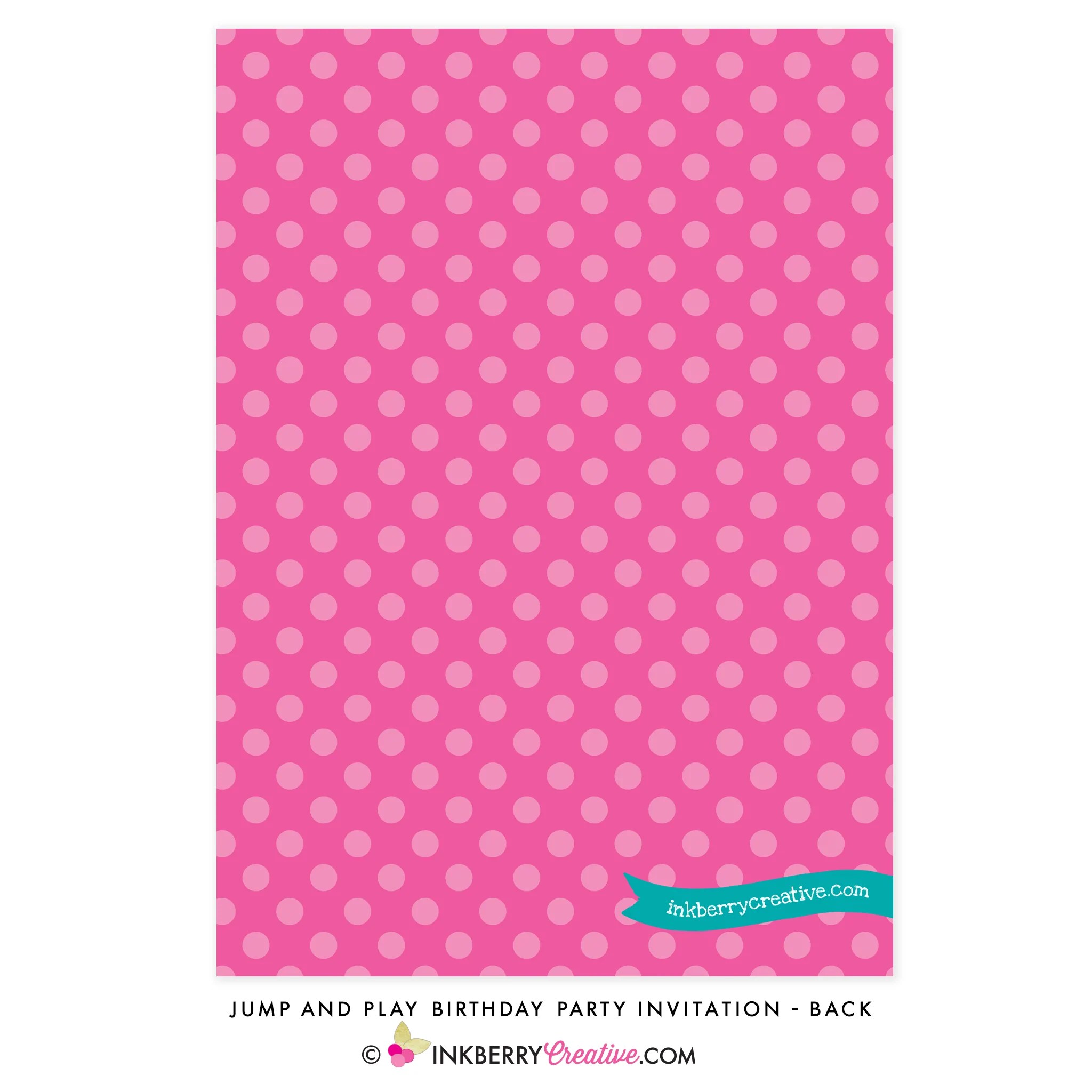 jump and play birthday party invitation bounce house or trampoline park