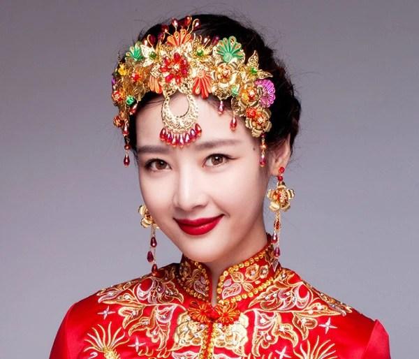 Chinese Wedding Beading Crown For Kwa Qun YannyExpress