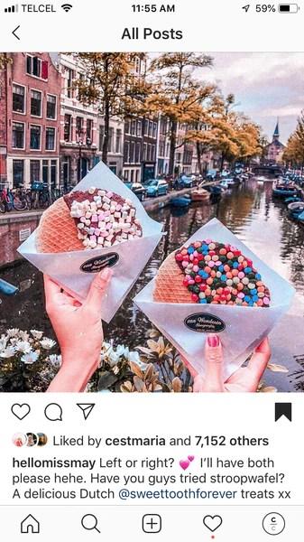 Instagram Post, hands holding cookies