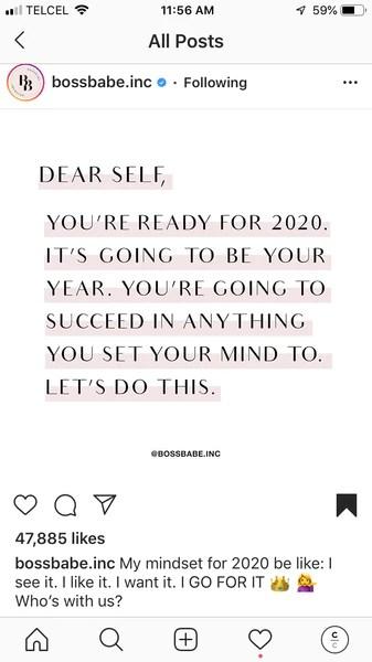 Instagram post, motivational quote