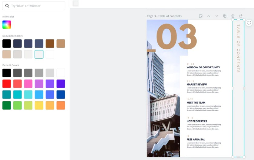 E-book Canva Template changing color