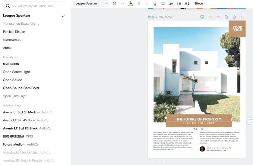 Ebook Canva Template Changing font