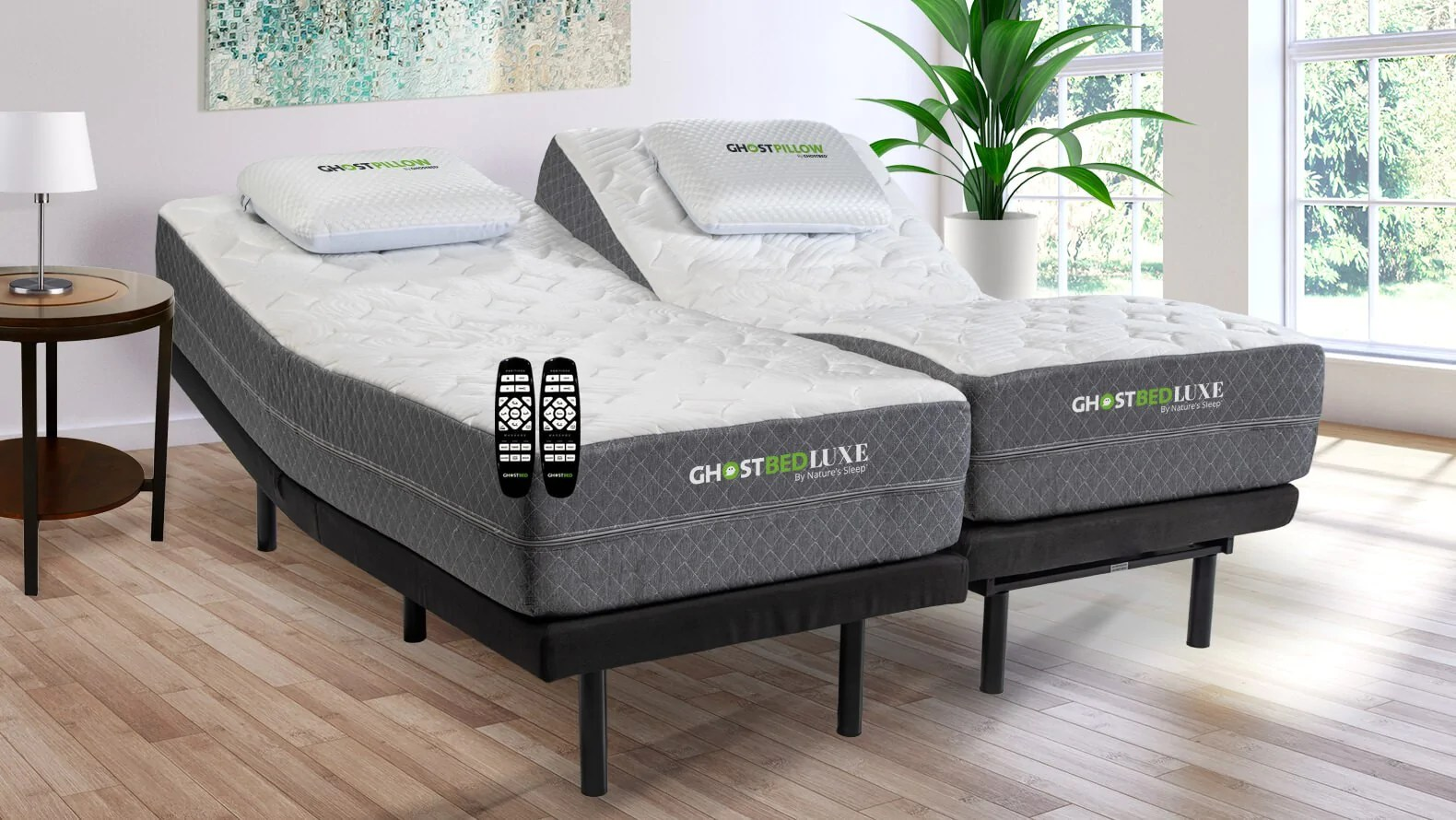 Ghostbed Split King Mattress With Adjustable Power Base Ghostbed