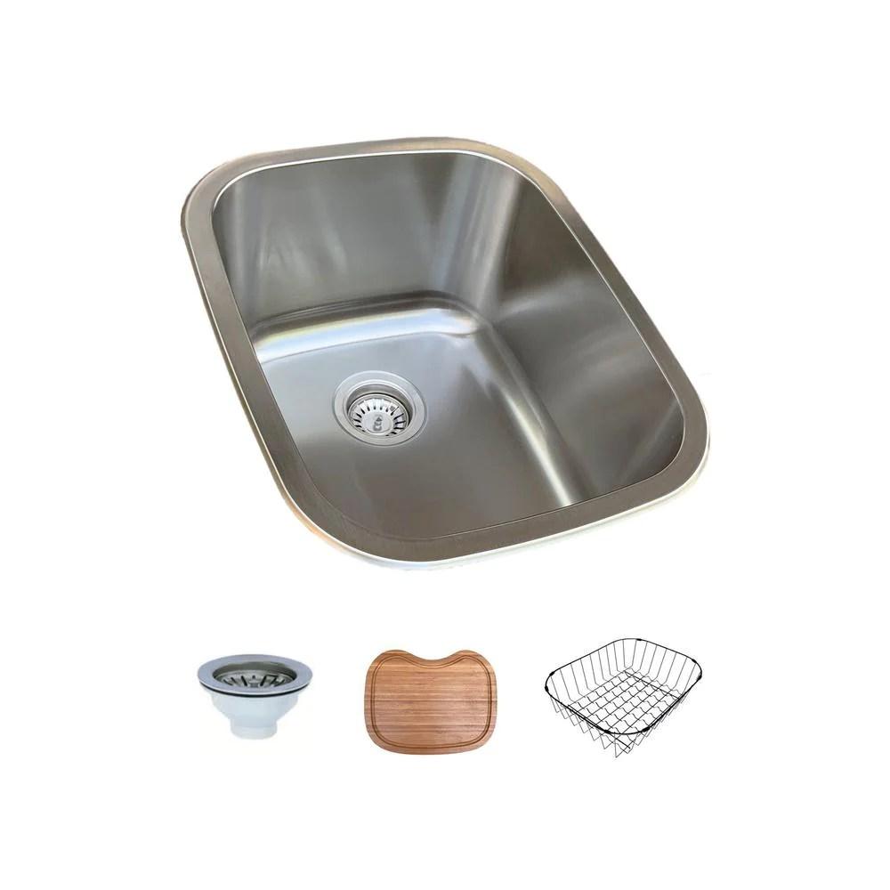 stainless steel 16 in single bowl undermount drop in bar sink in stock hardwarestore delivery