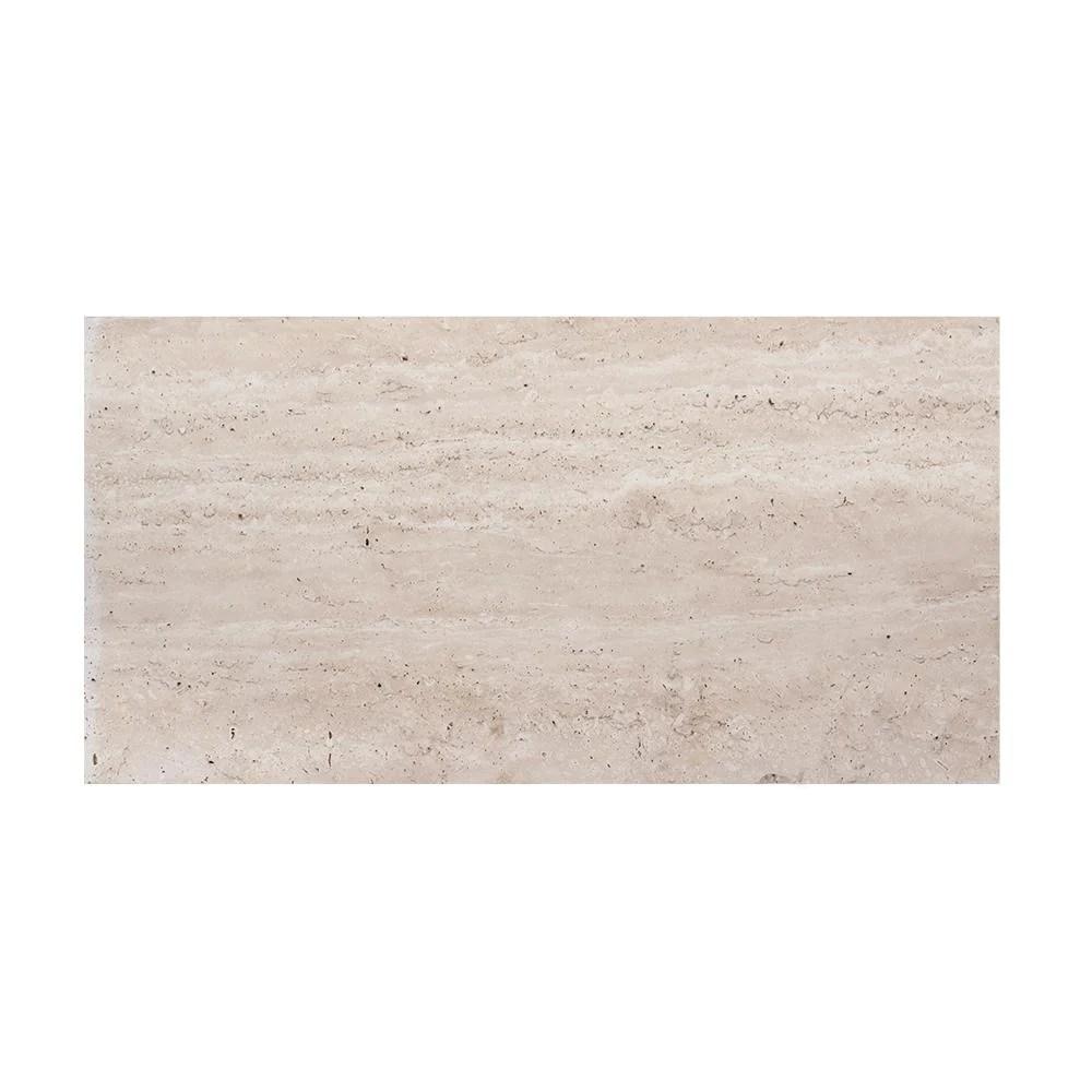 jeffrey court travertine beige cream 6 in x 12 in honed travertine w in stock hardwarestore delivery
