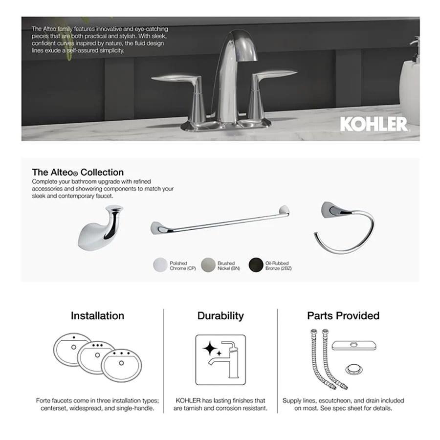 kohler polished chrome bathtub spout in stock hardwarestore delivery