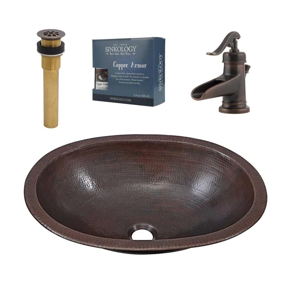 sinkology wallace all in one 19 in undermount or drop in bathroom sin in stock hardwarestore delivery