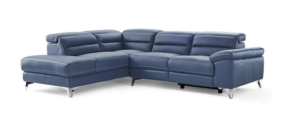 109 x 88 x 31 40 navy blue leather sectional english elm