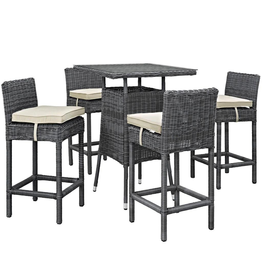 summon 5 piece outdoor patio sunbrella pub set