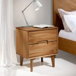 Mid Century Modern Nightstand English Elm