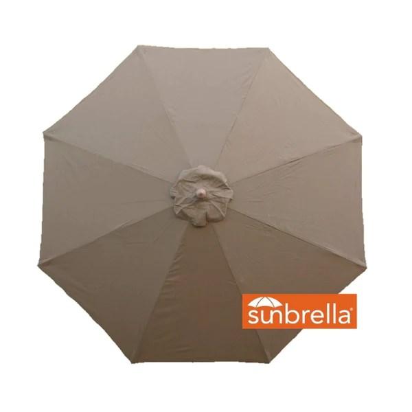 9ft market patio umbrella 8 rib replacement canopy sunbrella fabric cocoa