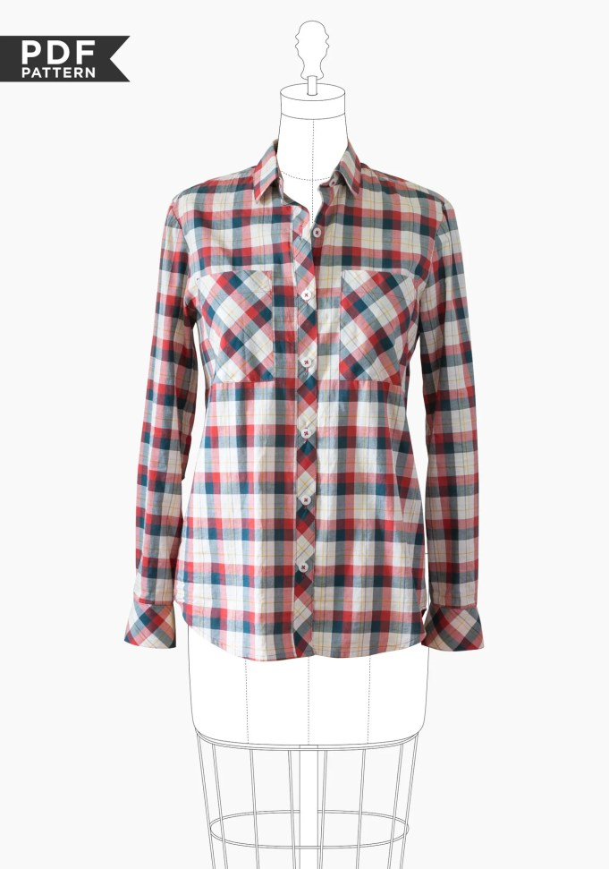 Archer Button Up Shirt PDF