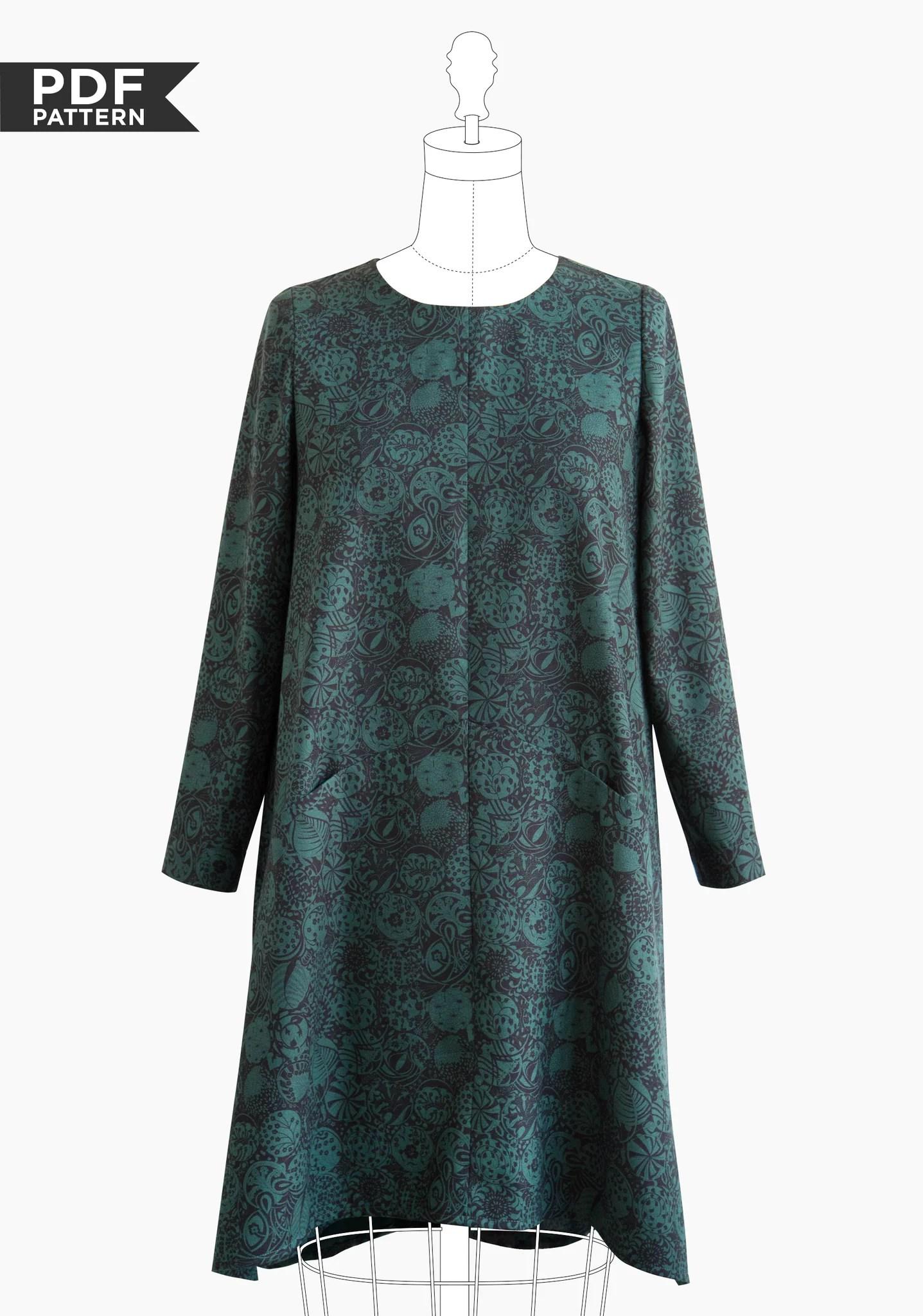 Grainline's new Farrow dress (click to go to pattern)