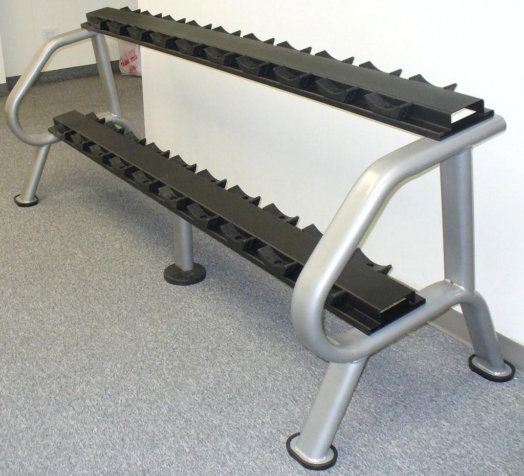malibu two tier dumbbell rack