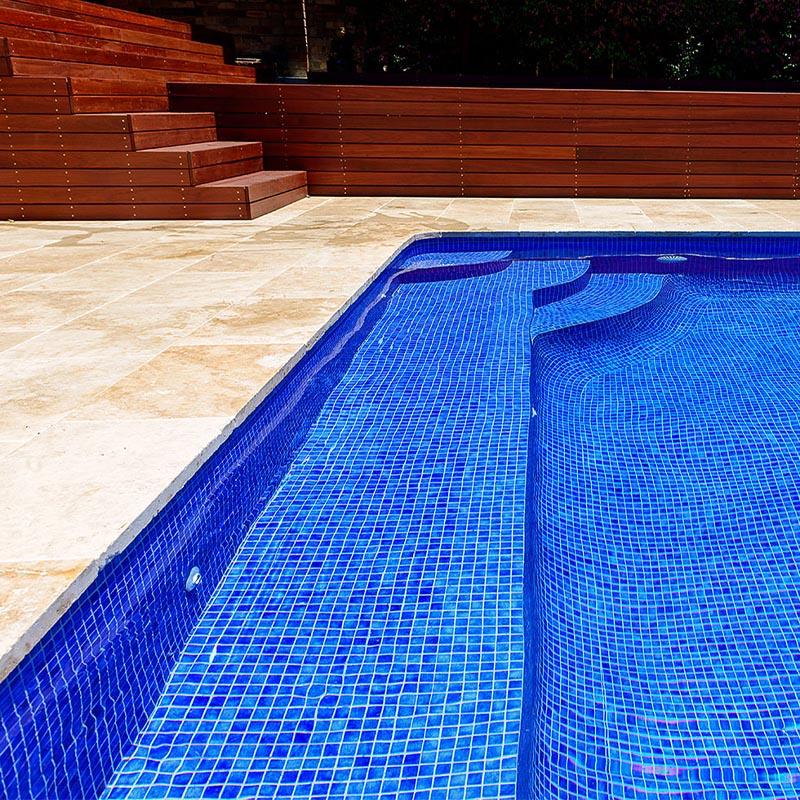 niebla 2512 c sapphire blue glass mosaic pool tile