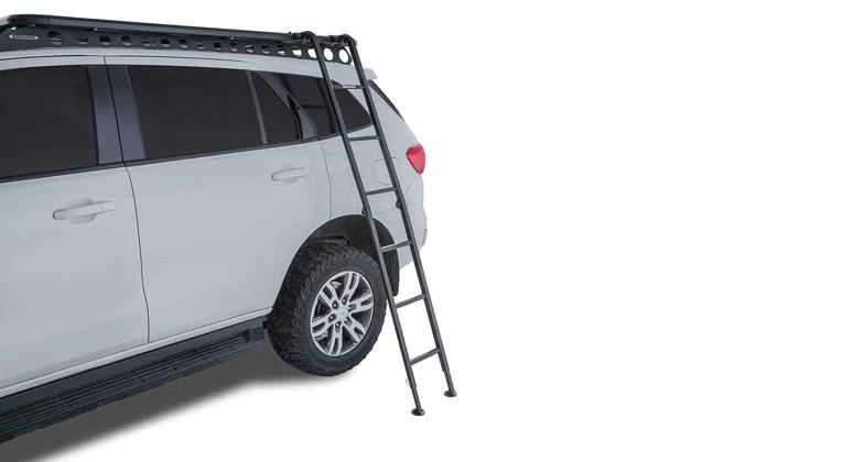 rhino rack roof rack aluminium folding ladder