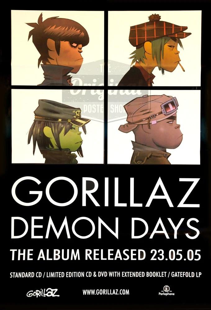 Perfecto para su computadora de escritorio, teléfono,. Original Poster For The Gorillaz Album Demon Days Original Poster Shop
